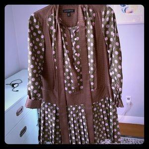 Banana Republic 1920s inspired silk dress